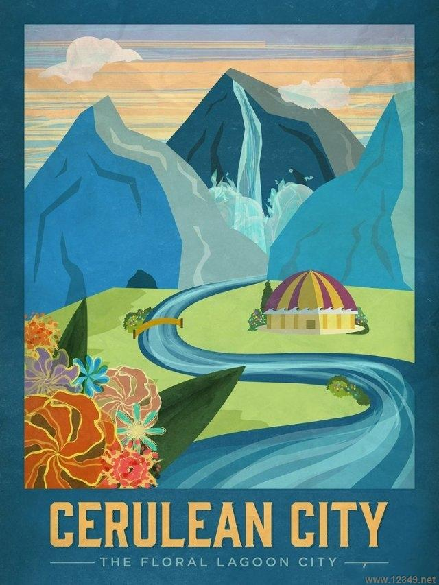 【导读】如果《口袋妖怪》世界中的关东是真实存在的,想必许多人都想去走一趟吧。而由 Little Pixel Posters打造的一系列旅行海报让这个想法更加诱人。 这些海报是对原版《口袋妖怪》的致敬,海报中是官方制作的关东地区艺术图: