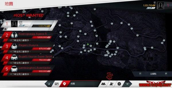 极品飞车17最高通辑全123个劫车点截图