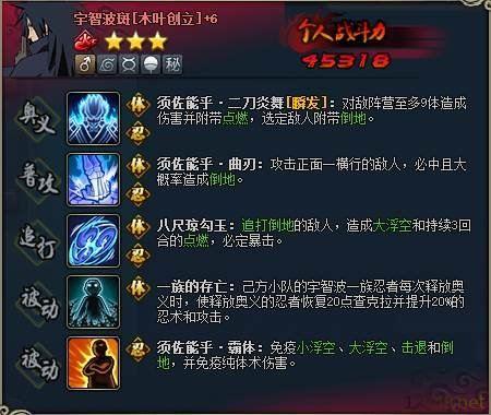 【阵容】火影忍者ol宇智波斑风主刷新队分享