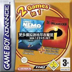 游戏2合1-海底总动员-寻找伦莫和超人特工队(2 Games in 1-Findet Nemo+Die Unglaubichen)
